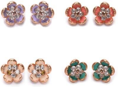 Manikya Floral Alloy Stud Earring