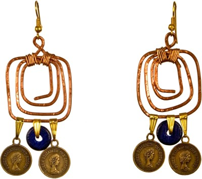 Retaaz Mystere Ardour Copper, Brass, Wood, Alloy Dangle Earring