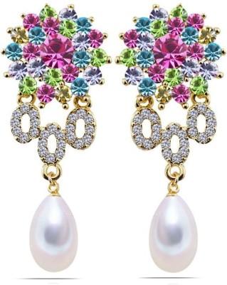 Kyra Multi Color Crystals Zircon Crystal Drop Earring