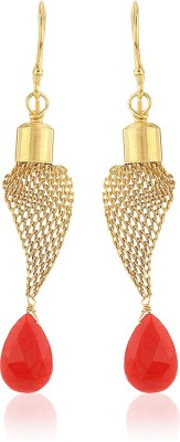 Thingalicious Funky Wiremesh Long Alloy Dangle Earring