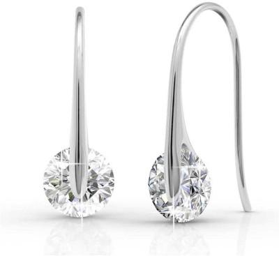 ArietteJewels Ariette Jewels Sparkle Drop Earrings White Gold Drop Earring