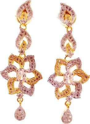Ojas Jewels Vivacious White Zircon Alloy Earring Set