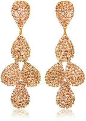 Moedbuille Golden Drop Earrings [MBER00380] Cubic Zirconia Alloy Drop Earring