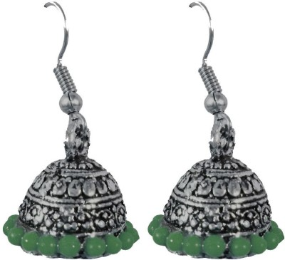AsiaCraft Green Traditional Metal Jhumki Earring