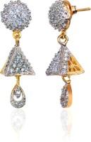 Alysa Aamolika Cubic Zirconia Brass, Alloy, Silver Jhumki Earring