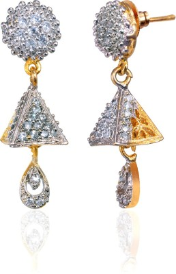 Fashion Fusion ES012501A Aamolika Cubic Zirconia Brass, Alloy Drop Earring