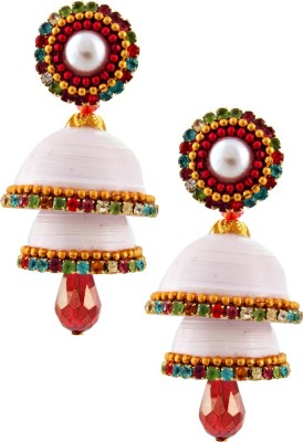 BigCart Gorgeous Single Stud White Double Brass, Copper Jhumki Earring
