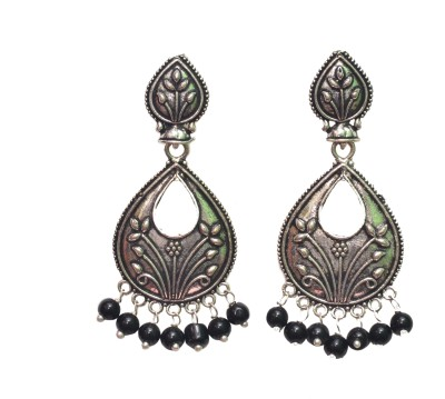NM Products Black Alloy Alloy Drop Earring