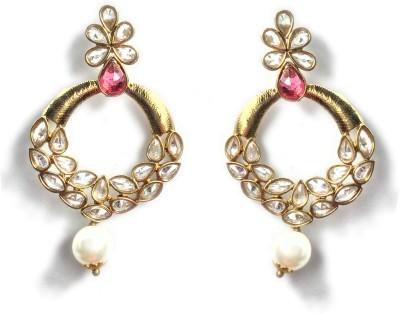 Jhalak Festive Ethnic AD Alloy Chandbali Earring
