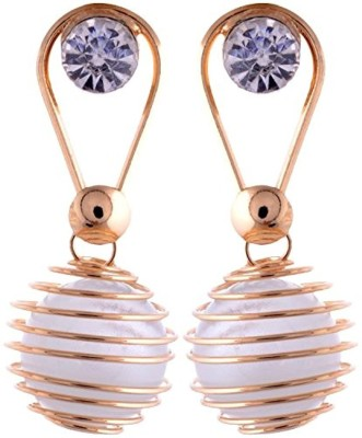 Gliteri Evergreen Collections Spiral Alloy Drop Earring