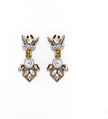 Rudrani Geometric pendant Alloy, Crystal Drop Earring