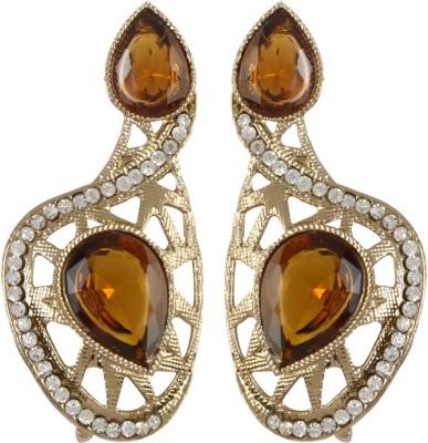Radius Beautiful Yellow Zircon Metal Drop Earring