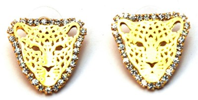 Jodhpuriyas Tiger Swarovski Zirconia Alloy Stud Earring