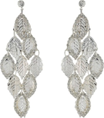 One Stop Fashion Shinning Silver Colour Leaves Bunch Alloy Drop Earring