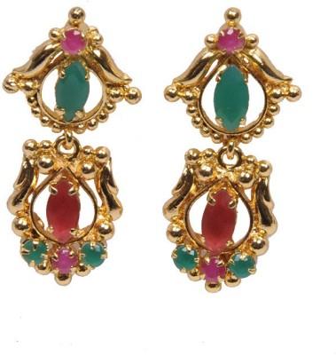 PFJ PFJ3021-EARRING Ruby Brass, Copper Drop Earring