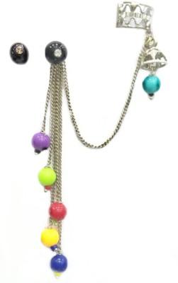 Gurjari Multymoti Crystal Brass Cuff Earring