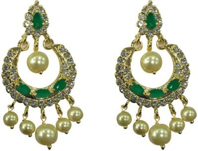 Sri Kapi Pearls FE129 Cubic Zirconia Alloy Chandbali Earring