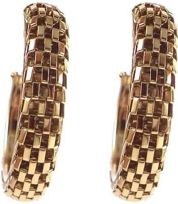 Kenza Brass Alloy Hoop Earring