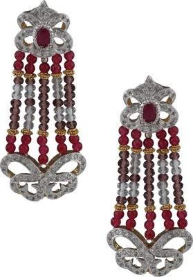 Anuradha Art American Diamond Copper Drop Earring