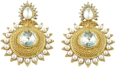 Ratnaraj India Jewellry Traditional And Bollywood Style Alloy Chandbali Earring