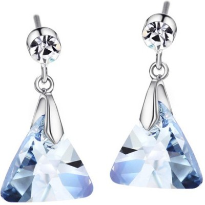 Prishi Impex Triangle Abstract Zinc Dangle Earring
