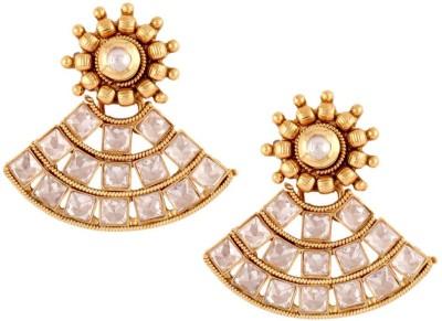 the jewelbox Kundan Basket Cubic Zirconia Copper Stud Earring
