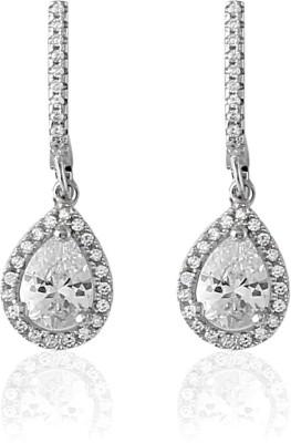 Eve's Wardrobe Dazzling Swarovski Crystal Sterling Silver Drop Earring