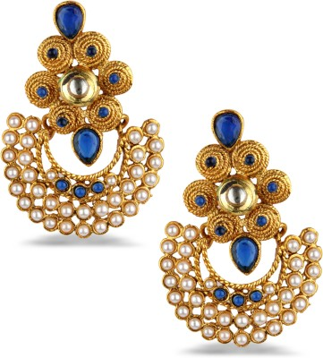 Bridesmaid Cubic Zirconia Copper Chandbali Earring