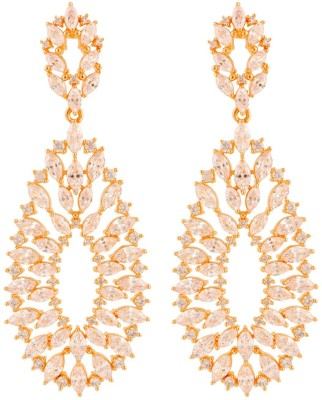 Beautiart BA1_BAEAR1146 Cubic Zirconia Alloy Drop Earring