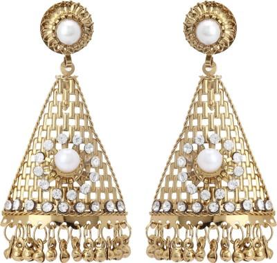 Fashionista Gurl Rust-resistant Pearl Bronze Drop Earring