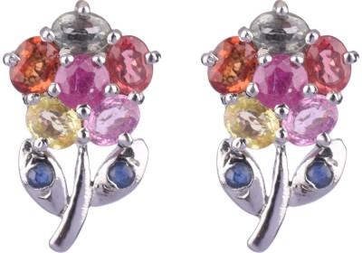 Krishna Pearls & Jewellers Princess Delight Zircon Silver Stud Earring