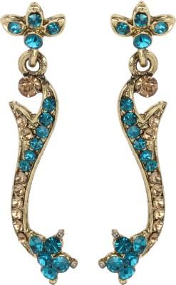 Maisha Blue & Gold Princess Alloy Drop Earring