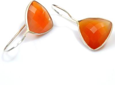 Anavaysilver Ear013 Carnelian Sterling Silver Dangle Earring