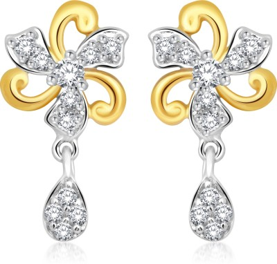 Classic Charming Gold And Rhodium Plated Earrings for Women [CJ1028ERG] Cubic Zirconia Alloy Drop Earring