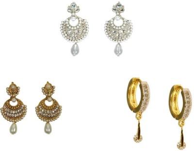 Rashi Jewellery Style Diva 3 Combo Cubic Zirconia Alloy Earring Set