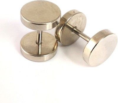 Ammvi 8mm 316l Barbell Shaped Stainless Steel Plug Earring