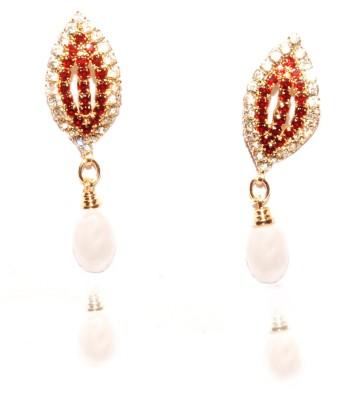 Gajraula Crafts Pearl Stud Alloy Drop Earring