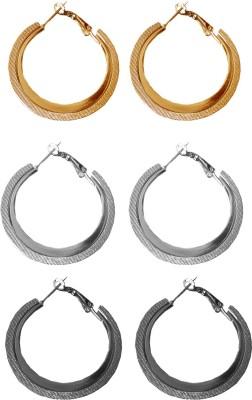 moKanc Combo Pack Crystal Alloy Hoop Earring