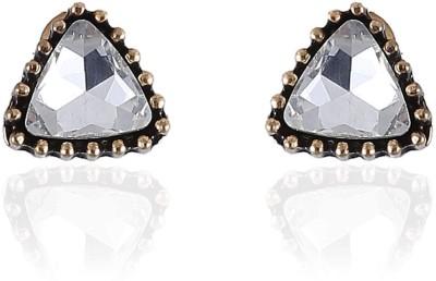 Vastradi Jewels Triangular Shape Brass, Alloy Stud Earring
