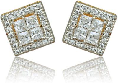 RC Designer Brass, Copper Stud Earring
