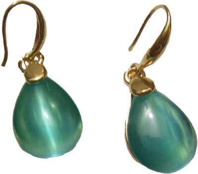 Bohocraft Parisienne Elegant, Classy, Aqua Blue Crystal Gold Waterdrop Alloy Dangle Earring