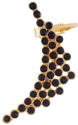Fayon Funky Fashion Black Multi Pretty Stones Crystal Alloy Cuff Earring
