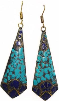 SB Fashions Blue jhumki earrings Brass Huggie Earring