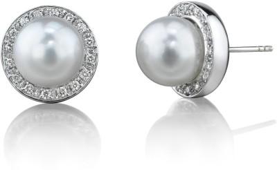 Tathastu Swarovski Pearl Silver Stud Earring