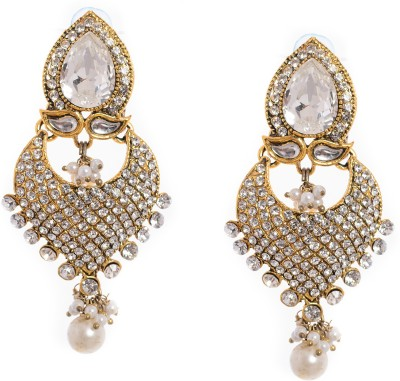 99HomeMart Ear05 Cubic Zirconia Alloy Chandbali Earring