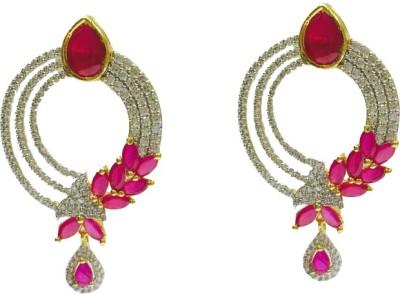 RK Style Glittering Brass Drop Earring