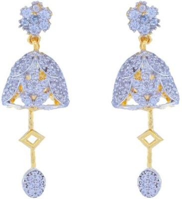 Jewlot Splendid AD 2029 Brass Drop Earring