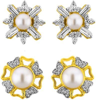 JPearls Set Of 2 Pearl Alloy Stud Earring