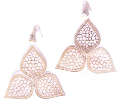 Ornamas Brass, Enamel Drop Earring