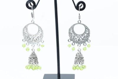 Waama Jewels pretty green Metal Dangle Earring